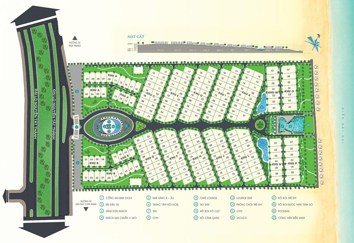 Mặt bằng dự án Cam Ranh Mystery Villas