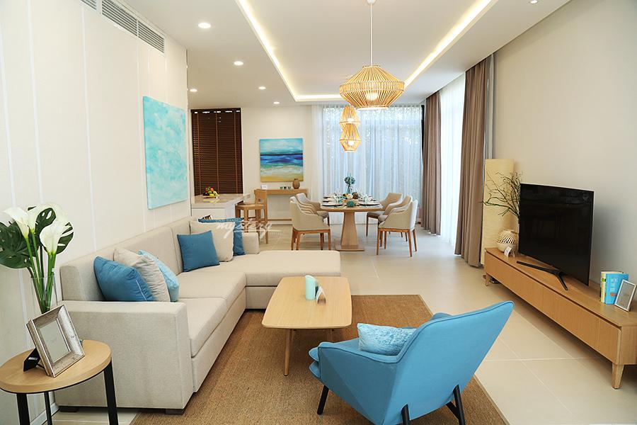 Phòng khách biệt thự Cam Ranh Mystery Villas