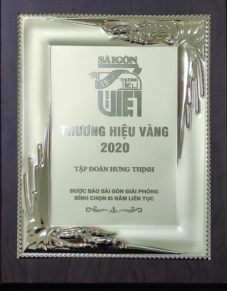 Giải thưởng thương hiệu vàng 2020